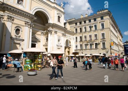 Nevsky Prospect, Saint Petersburg, Russie Banque D'Images