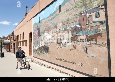 Fresque à Durango, dans le Colorado, USA Banque D'Images