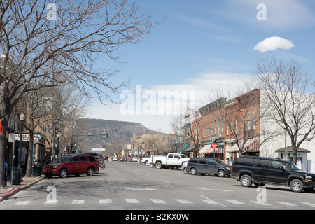 Avenue principale de Durango, dans le Colorado, USA Banque D'Images