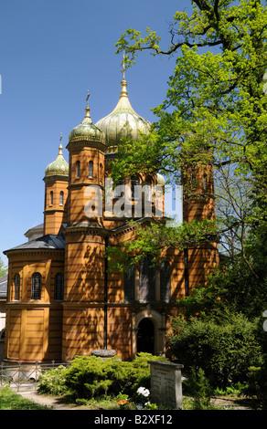 Chapelle Orthodoxe russe à Weimar cimetière historique, Weimar, Allemagne Banque D'Images