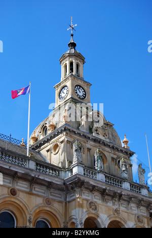 L'Hôtel de Ville Tour de l'horloge, le Cornhill, Ipswich, Suffolk, Angleterre, Royaume-Uni Banque D'Images
