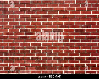 Mur de briques rouges Banque D'Images