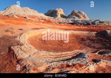 Tourbillons dans la poche en grès blanc à Vermilion Cliffs National Monument, Arizona Banque D'Images