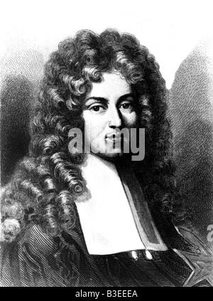 Colbert, Jean Baptiste, 29.8.1619 - 6.9.1683, homme politique français, portrait, gravure par Sandos après peinture Banque D'Images