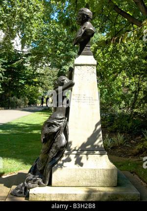 Sir Arthur Sullivan, Mémorial Victoria Embankment Gardens, Londres Banque D'Images