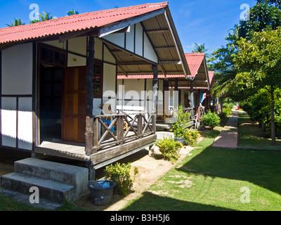 Maison de vacances chalets près de la plage de Thong Nai Pan Koh Phangan Thaïlande JPH0080 Banque D'Images