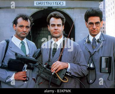 GHOSTBUSTERS 1984 Columbia/Delphi film avec de gauche Bill Murray, Dan Aykroyd et Harold Ramis Banque D'Images