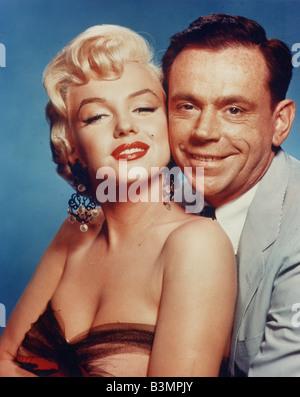 Les SEPT ANS DÉMANGENT 1955 TCF film avec Marilyn Monroe et Tom Ewell Banque D'Images