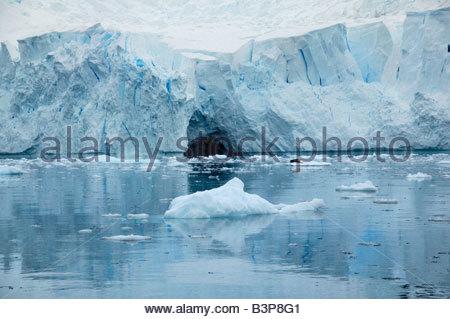 Glacier, Paradise Bay, Antarctique Banque D'Images