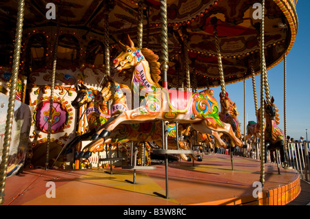 Fairground carousel Bournemouth, Angleterre, Royaume-Uni Banque D'Images
