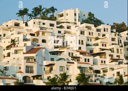 Manzanillo, Colima, Mexique. Brisas Las Hadas Resort / Lever du Soleil Banque D'Images