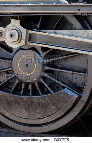 La roue de locomotive à vapeur, train à vapeur de Paignton et Dartmouth. Banque D'Images