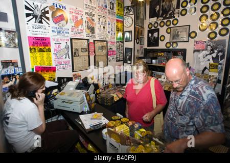 Studio Sun record shop Memphis Tennessee Banque D'Images