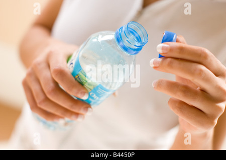 Close up de l'eau en bouteille Banque D'Images