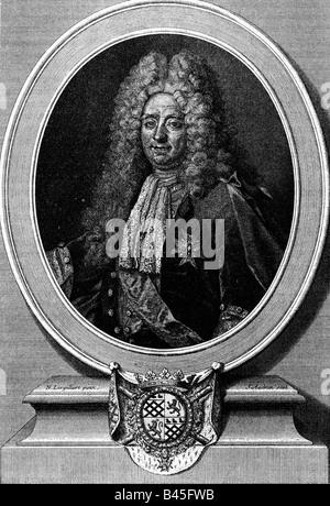Colbert, Jean Baptiste, 29.8.1619 - 6.9.1683, homme politique français, demi-longueur, gravure sur cuivre par Jean Banque D'Images