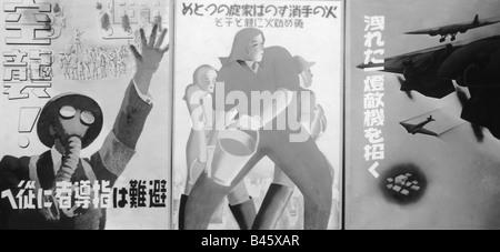 Géographie / voyages, Japon, poster, anti aéronefs, historique, historique, d'Asie, 20e siècle, années 1930, la Banque D'Images