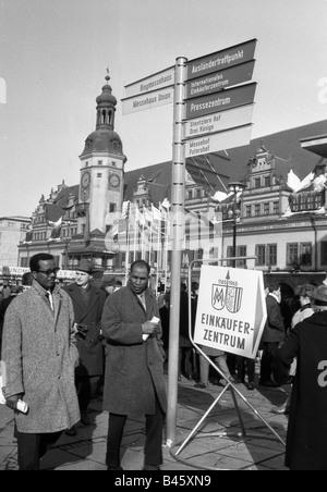 Le commerce, salons, Foire de Leipzig, signes, 1965, Additional-Rights-Jeux-NA Banque D'Images