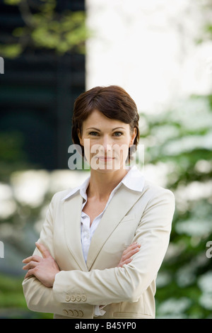 Allemagne, Baden Württemberg, Stuttgart, business woman, portrait Banque D'Images