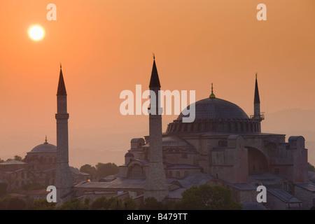 Turquie Istanbul vue de la mosquée Sainte-Sophie Banque D'Images