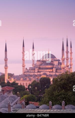 Turquie Istanbul La Mosquée Bleue La Mosquée du Sultan Ahmed Banque D'Images