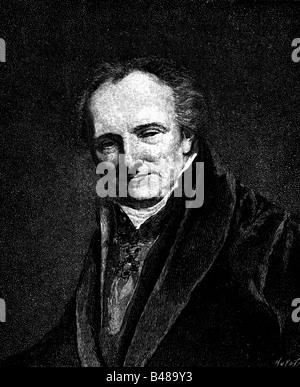 Denon, Dominique-vivant, 4.1.1747 - 27.4.1827, peintre français, écrivain, portrait, gravure de bois, après une Banque D'Images