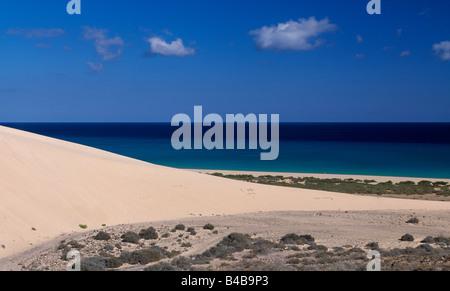 Côte de Sotavento Fuerteventura Canaries Espagne Banque D'Images
