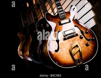 Guitares dans music store