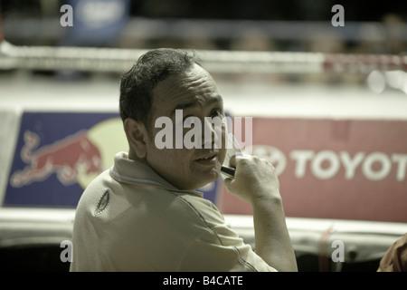 Bookmaker, Thai Boxing Lumpinee Stadium Bangkok Thaïlande Banque D'Images