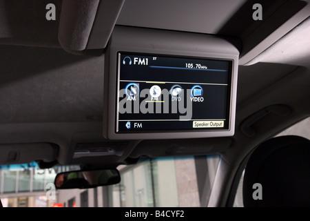 Lexus LS 460 l'impression d'ambiance, l'année de modèle 2007-, blanc, vue détaillée, vue de l'intérieur, multimédia, Banque D'Images