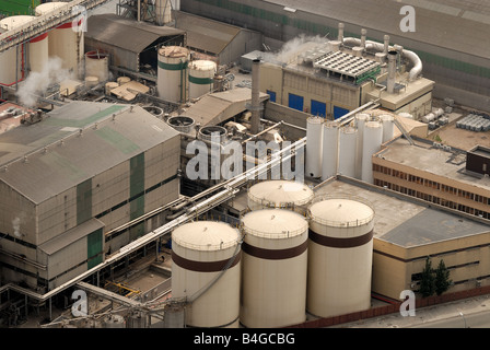 Stockage industriel à port Banque D'Images