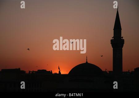Coucher du soleil à Istanbul Banque D'Images