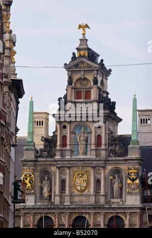 L'hôtel de ville sur la grand place, Grote markt , Anvers, Belgique Banque D'Images
