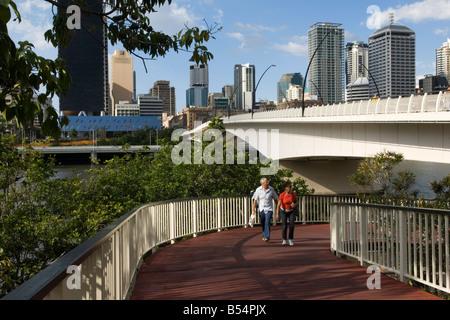 La marche sur le South Bank, Brisbane, Australie Banque D'Images
