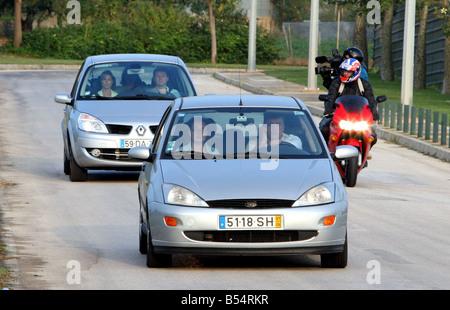 Kate et Gerry McCann arrivent à l'aéroport de Faro sur leur chemin du retour vers le Royaume-Uni Les Mccann retour Banque D'Images