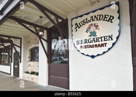 Texas Hill Country Fredericksburg Le Auslander Restaurant Biergarten German beer garden cafe
