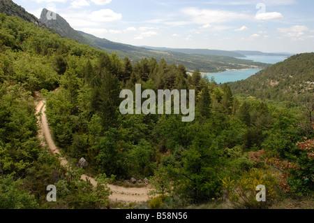 Lac de Sainte Croix Gorges du Verdon qui est située dans le département du Var 83 France Banque D'Images