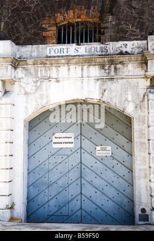 Le fort Saint-Louis, Fort-de-France, Martinique, Antilles françaises, Antilles, Caraïbes, Amérique Centrale Banque D'Images