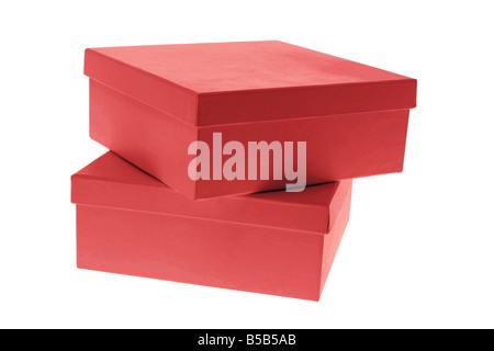 Boîtes cadeau rouge Banque D'Images