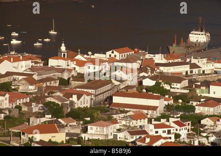 Velas et port Sao Jorge Açores Portugal Europe de l'Atlantique Banque D'Images