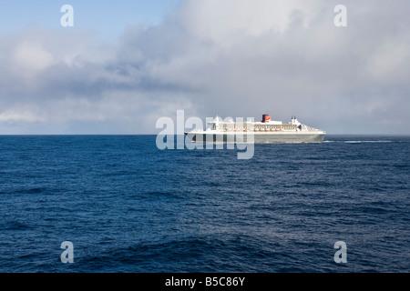 Le Queen Mary II La traversée de l'Atlantique en octobre 2008 Banque D'Images