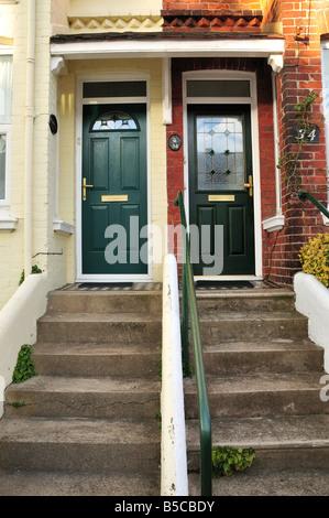 Deux porte d'house, en logement, Brighton et Hove, Angleterre Banque D'Images