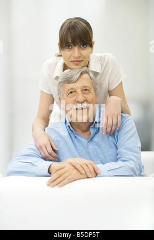 Woman de père, Smiling Banque D'Images