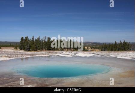 Piscine opale, Midway Geyser Basin, Parc National de Yellowstone