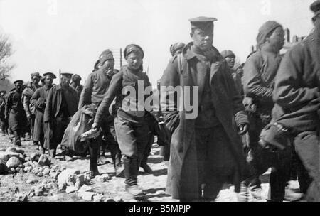 9 1916 318 A1 1 E Bataille o Lac Naroch Rus 1916 prisonniers la Première Guerre mondiale, Front de l'est la défaite des troupes russes après l'off ensi
