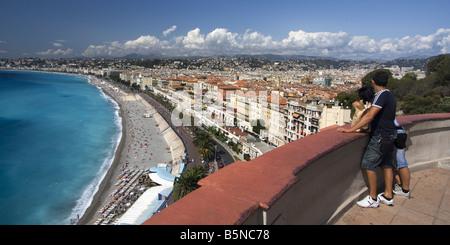 France Nice Promenade des Anglais vue Banque D'Images