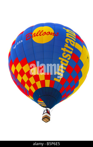 Lindstrand hot air balloon dans l'air, International de montgolfières, Chateau d oex, Suisse Banque D'Images