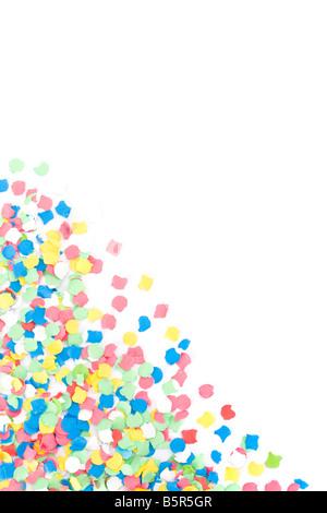Fait avec beaucoup d'arrière-plan de confettis colorés Banque D'Images