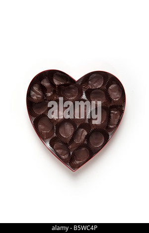 Chocolat coeur vide cand Banque D'Images