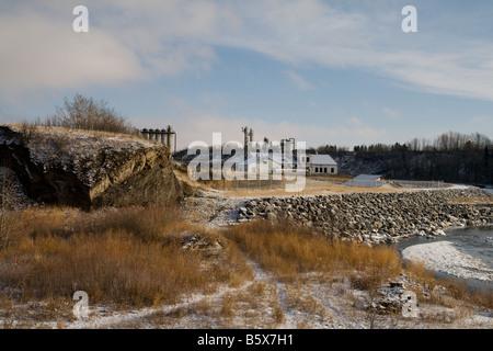 Une photo de l'usine de gaz de Turner Valley historique à Turner Valley en Alberta Banque D'Images