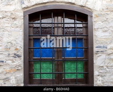 Fenêtre maison lefkara Banque D'Images